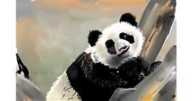Panda drawing by Rose rocket