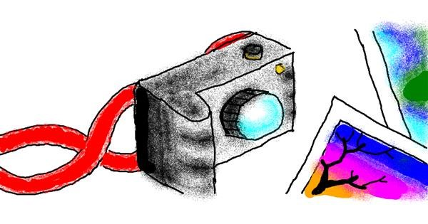 Camera drawing by Uniqua