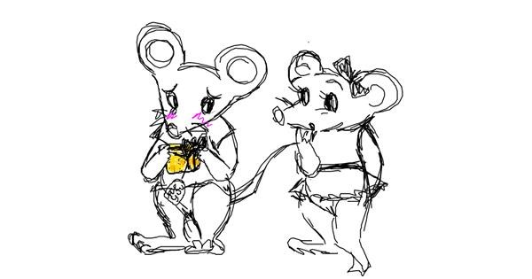 Mouse drawing by flipper