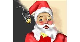 Santa Claus drawing by Cec