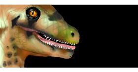Drawing of Dinosaur by leonardo de vinci