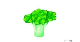 Broccoli drawing by Neuralgia