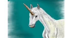 Unicorn drawing by Jan