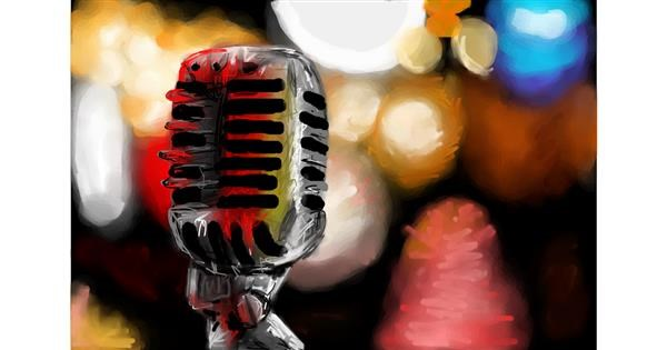 microphone drawing by Soaring Sunshine
