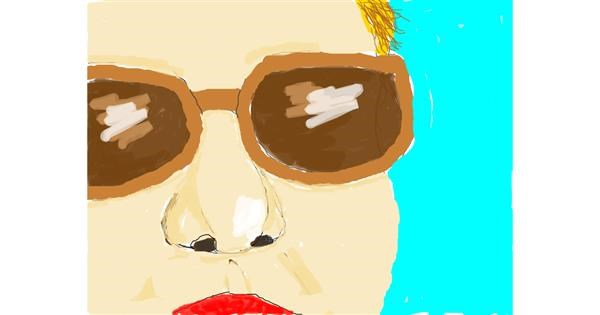Glasses drawing by Camila:)