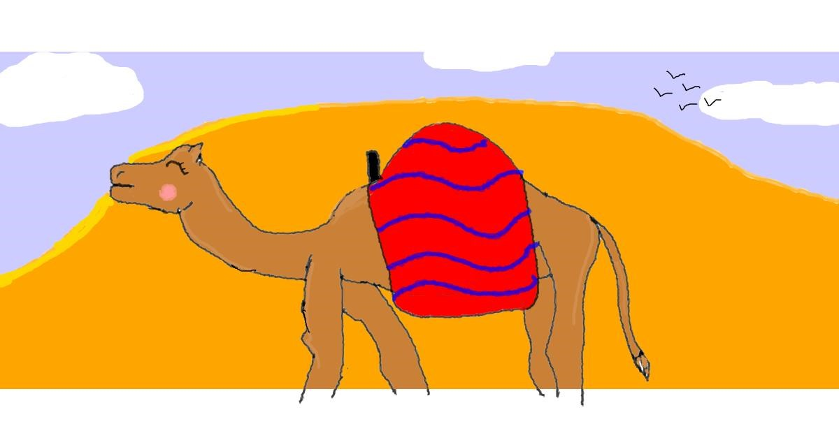 Drawing of Camel by Red Ibis