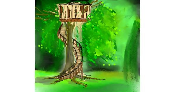 Treehouse drawing by Bro