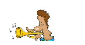Trumpet drawing by Stephanie