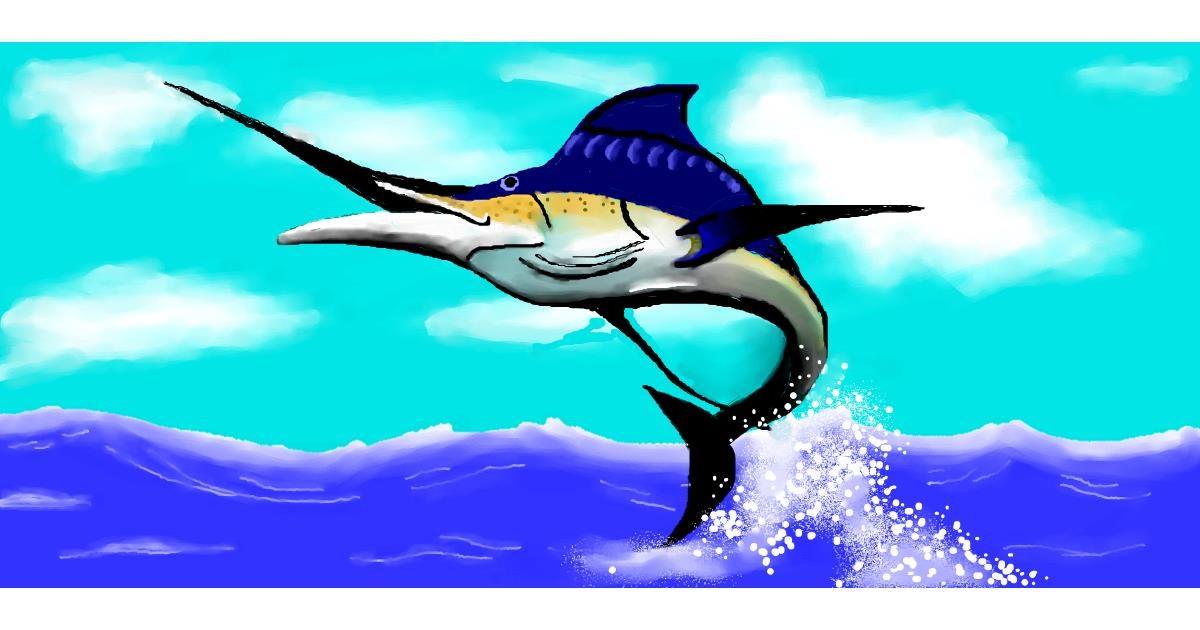 Swordfish drawing by Debidolittle