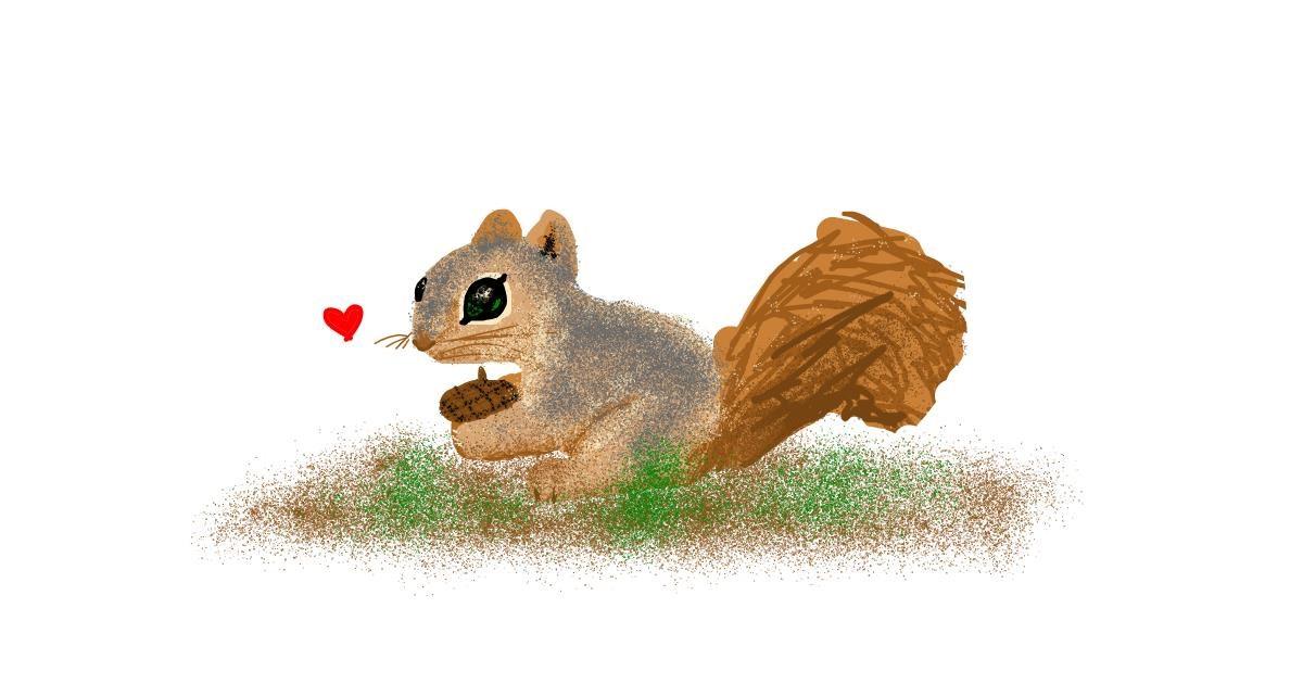 Squirrel drawing by Redd_Pandaii