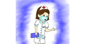 Drawing of Nurse by Shalinee