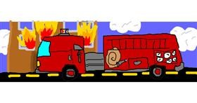 Firetruck drawing by get YEETED