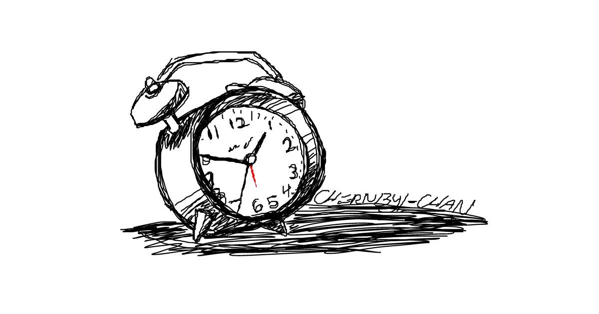 Alarm Clock Drawing By Chernobyl Chan Draw And Guess Gallery