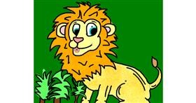 Drawing of Lion by Natalie