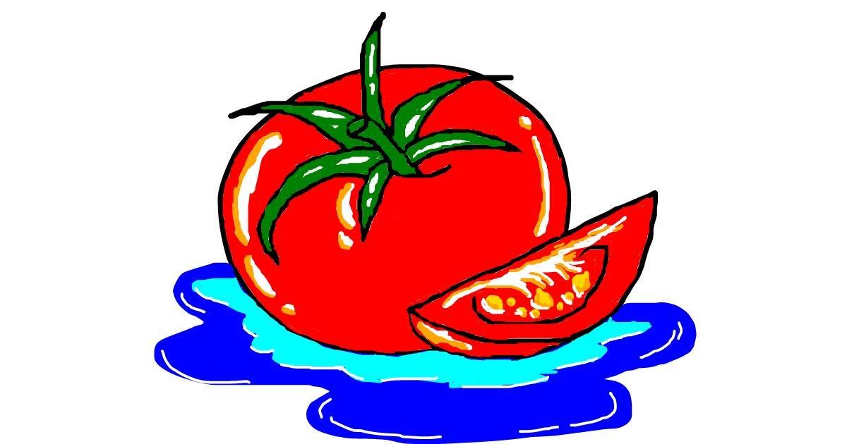 Tomato drawing by Guren