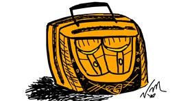 Suitcase drawing by Ms. FanCy DoLL