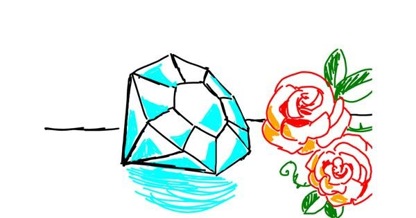 Diamond drawing by Mede