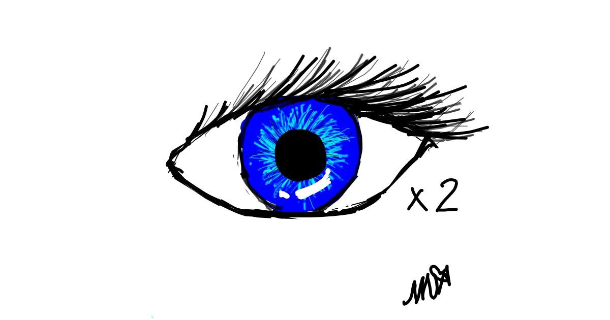 Eyes drawing by SofaKingGr8