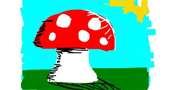 Mushroom drawing by nova