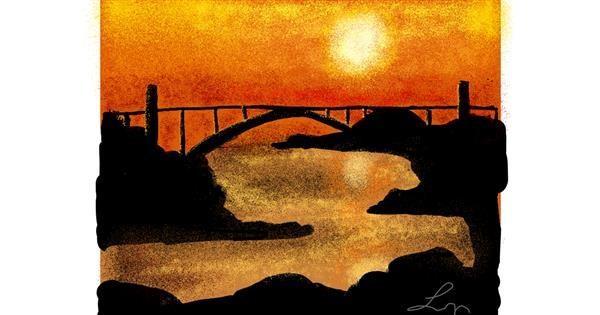 Sunset drawing by Nonuvyrbiznis