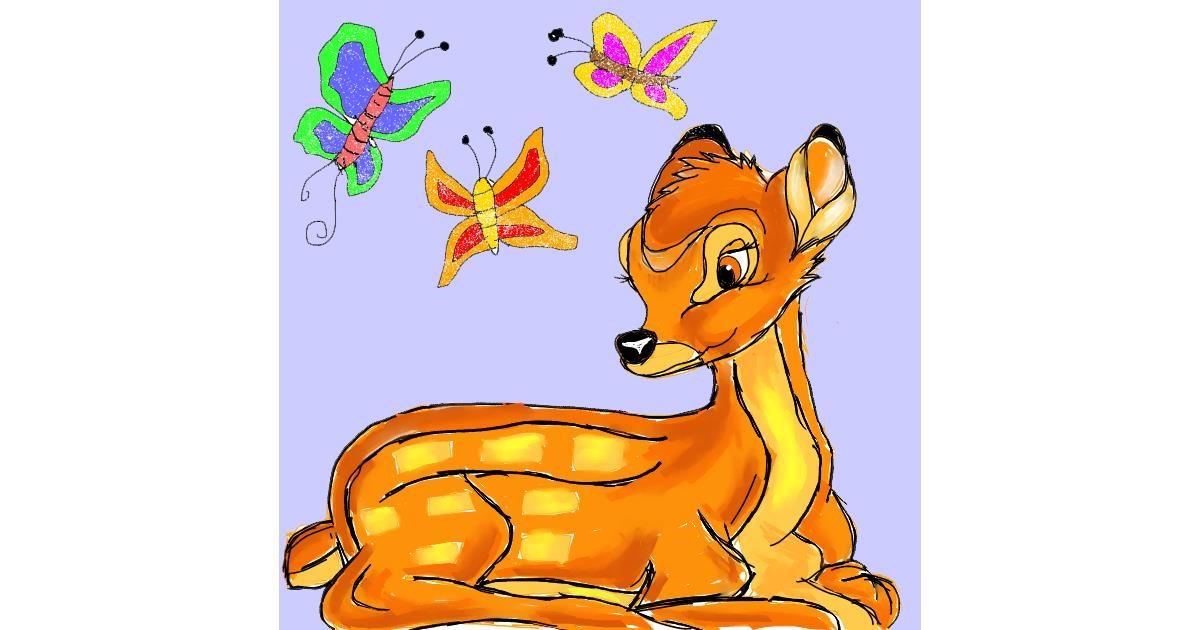 Drawing of Bambi by Fazila