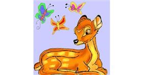Bambi drawing by Fazila