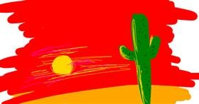 Cactus drawing by xerox