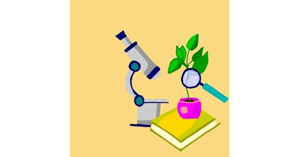 Microscope drawing by MaRi