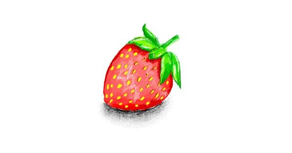 Strawberry drawing by coconut