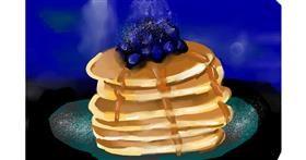 Pancakes drawing by Rose rocket