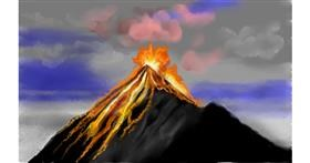 Drawing of Volcano by Tim
