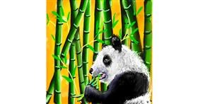 Bamboo drawing by Leah