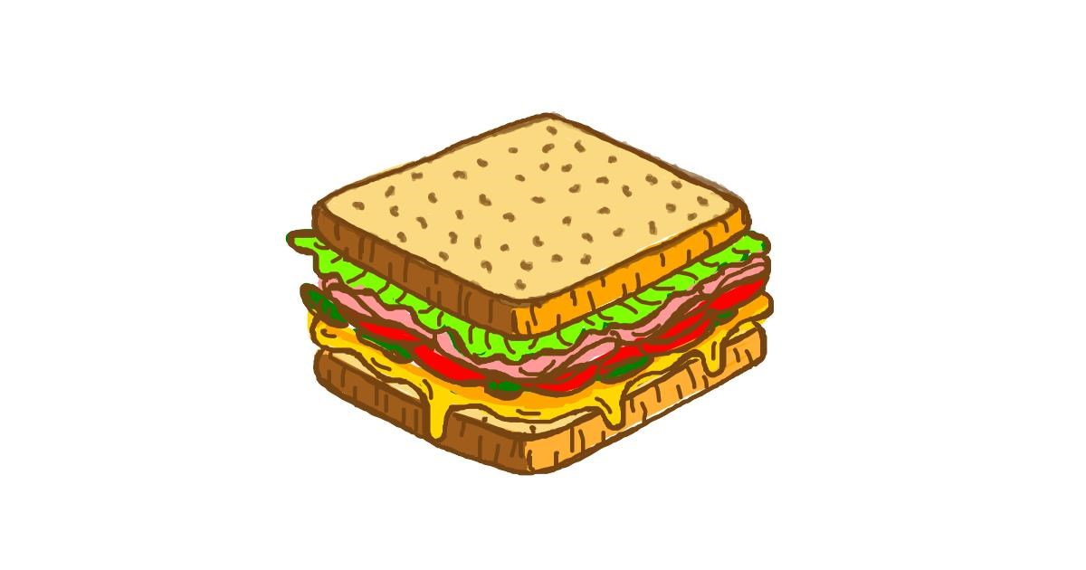 Sandwich drawing by alison