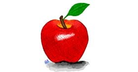 Apple drawing by Ashley