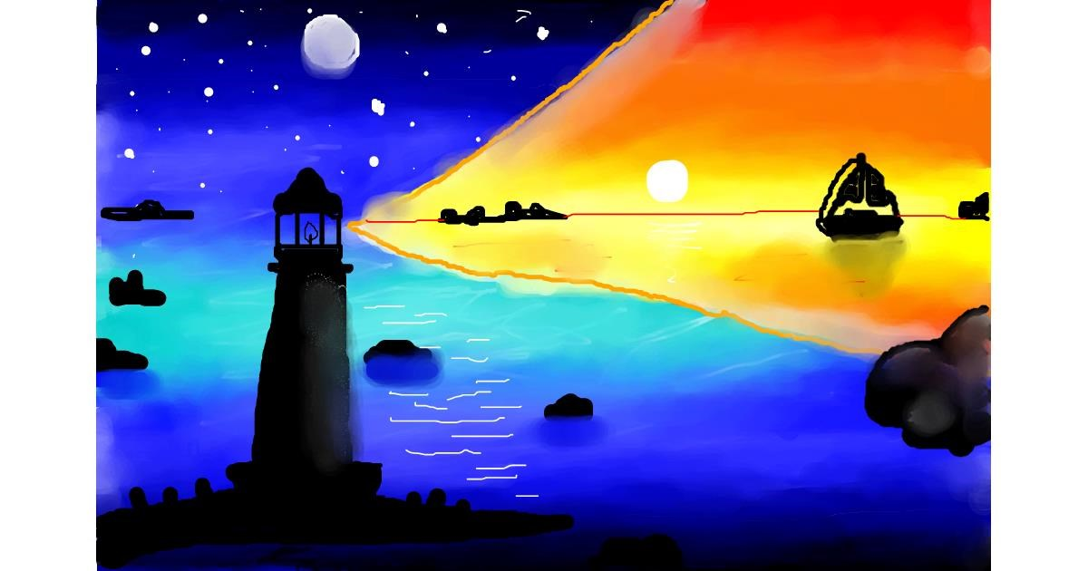 Drawing of Lighthouse by 🦄UNI🦄
