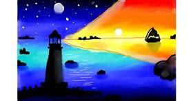 Drawing of Lighthouse by Olivia