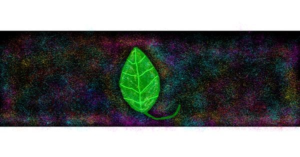Leaf drawing by DOLPHINE