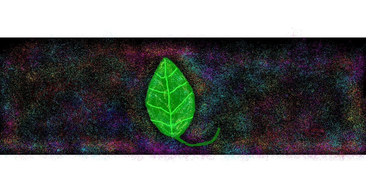 Drawing of Leaf by DOLPHINE