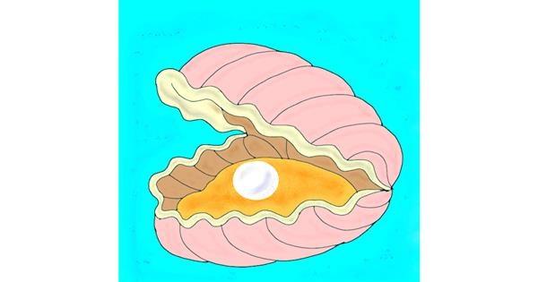 Seashell drawing by Rahi