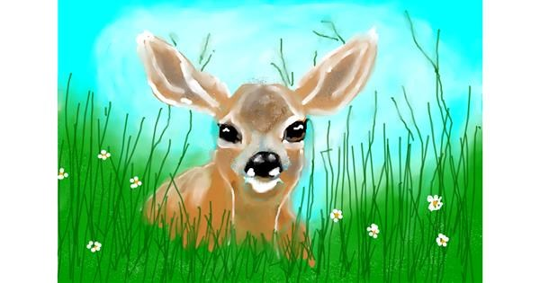 deer drawing by Debidolittle