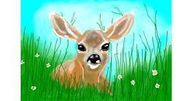 Deer drawing by Debidolittle