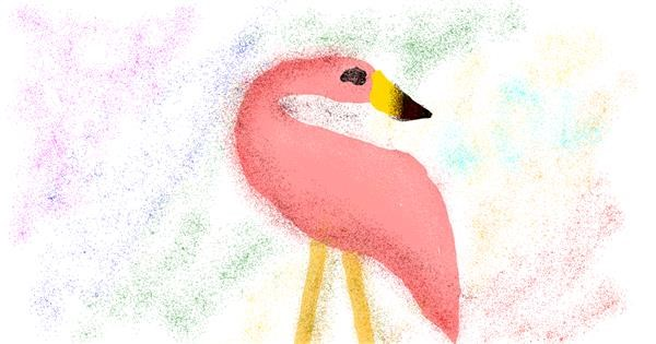 Flamingo drawing by cookie karr