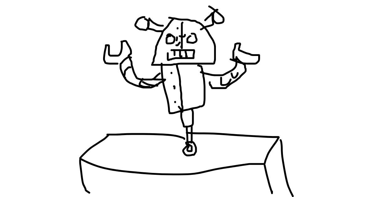 Drawing of Robot by dei