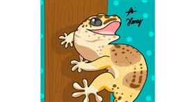 lizard drawing by Holy Kirbo