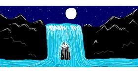 Waterfall drawing by Sorya