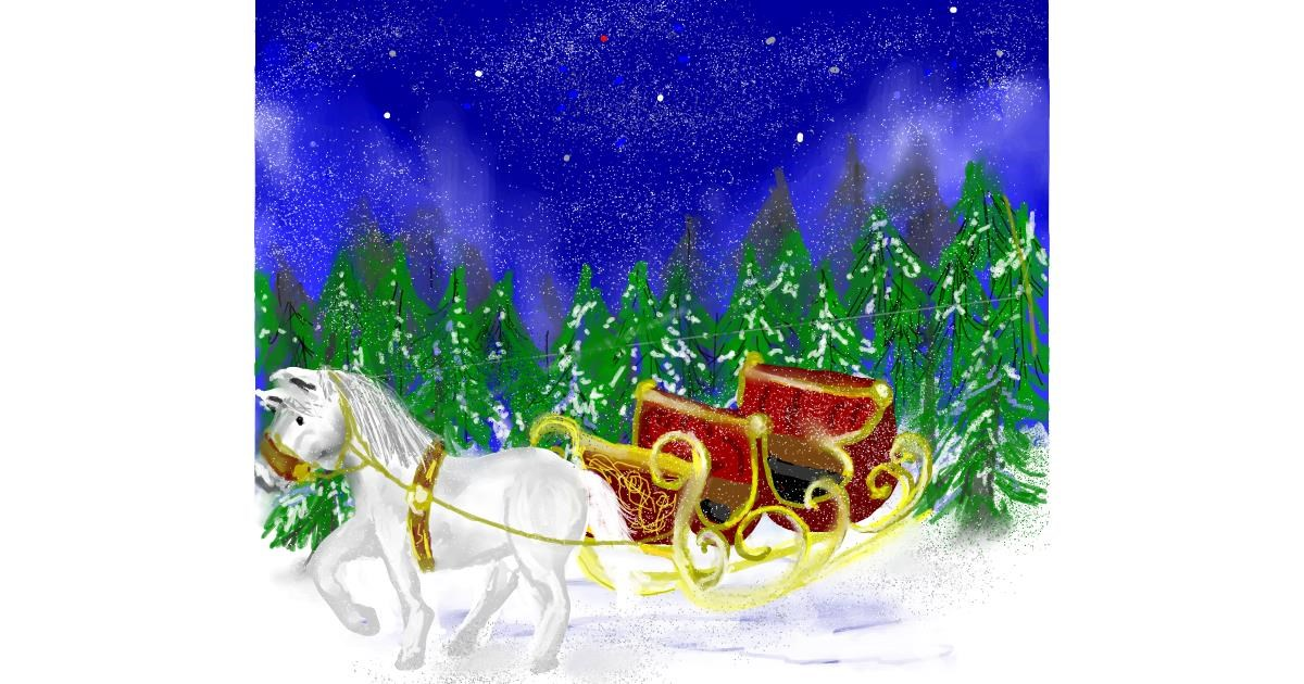 Sleigh drawing by Kam