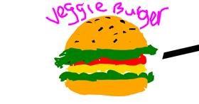 Burger drawing by Vivian