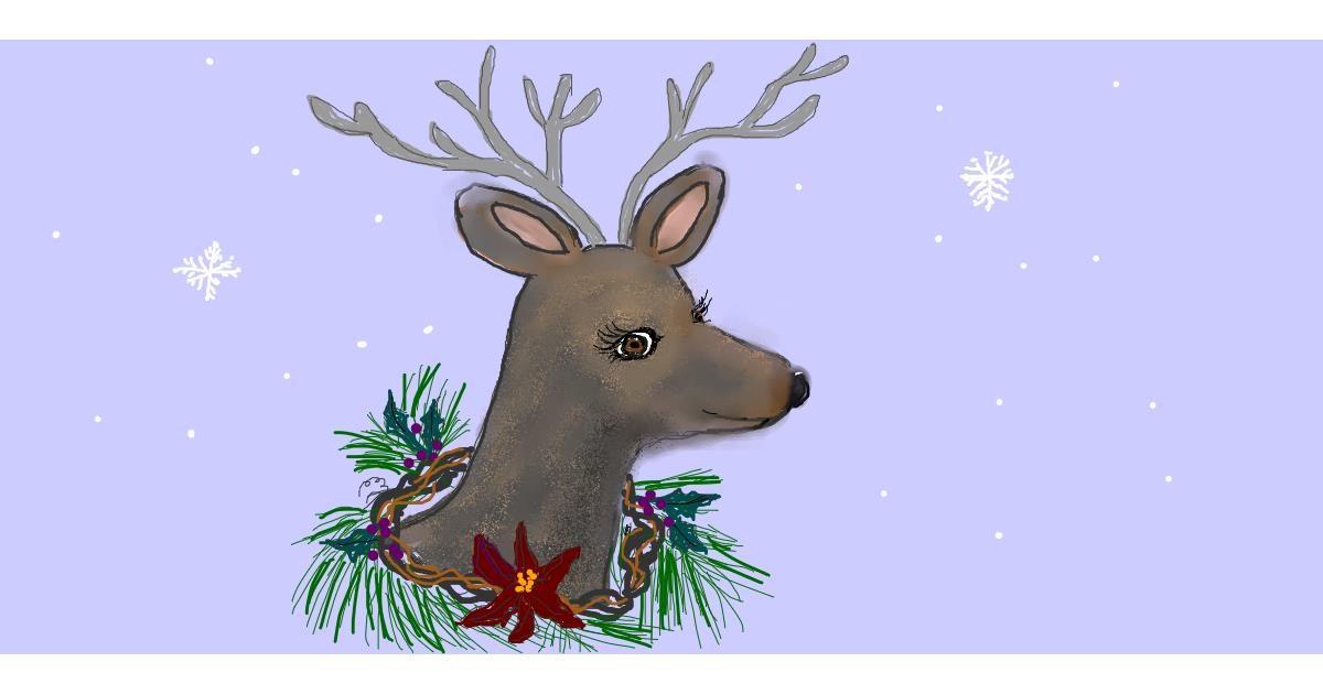 Drawing of Reindeer by robee