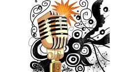 Drawing of Microphone by Holy Kirbo