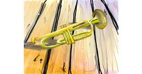 Trumpet drawing by Bro 2.0😎